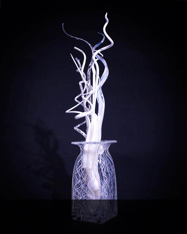 """Untitled, 2018, blown glass, 20"""" x 6"""" x 6"""""""
