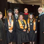 Salem Community College honored the following graduates with faculty medallions at Commencement: Associate in Applied Science -- Patricia Clune Associate in Arts -- Alyssa von Ahnen Associate in Fine Art -- Jonathan Buonafede Associate in Science -- Amy Wallace Certificate -- Krista Zorn Smedley  A medallion is presented annually to one graduating student in each degree and certificate program with a minimum 3.5 cumulative grade point average.  Faculty members select the recipients based on their academic a